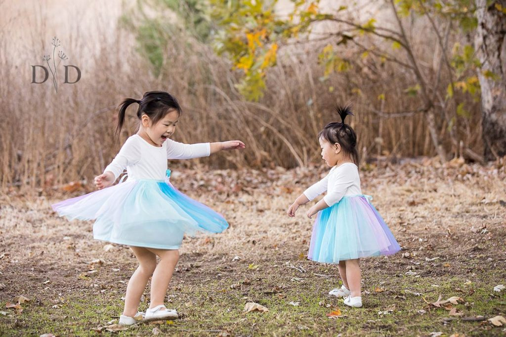 Two Daughters in tutus