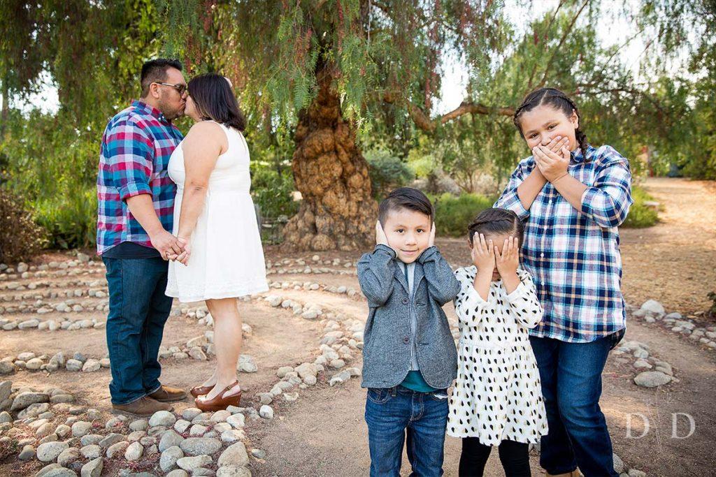 Arlington Garden Pasadena Funny Family Photo