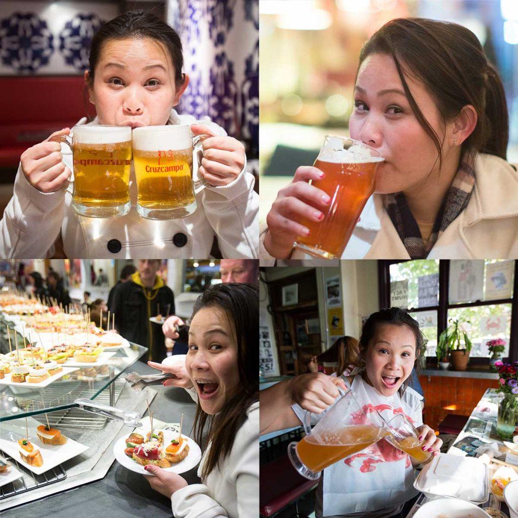 Judy Drinking Beer