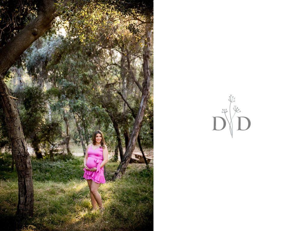 San Dimas Maternity Photos Pink Dress