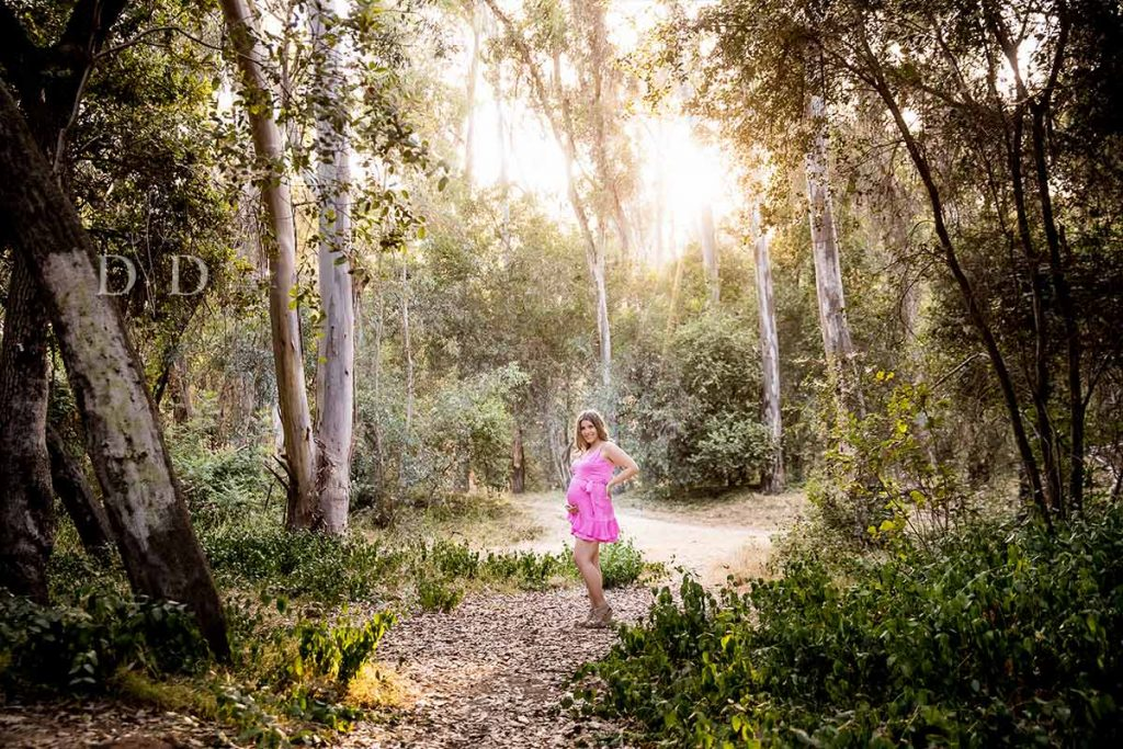 Maternity Photos with Nature and Trees