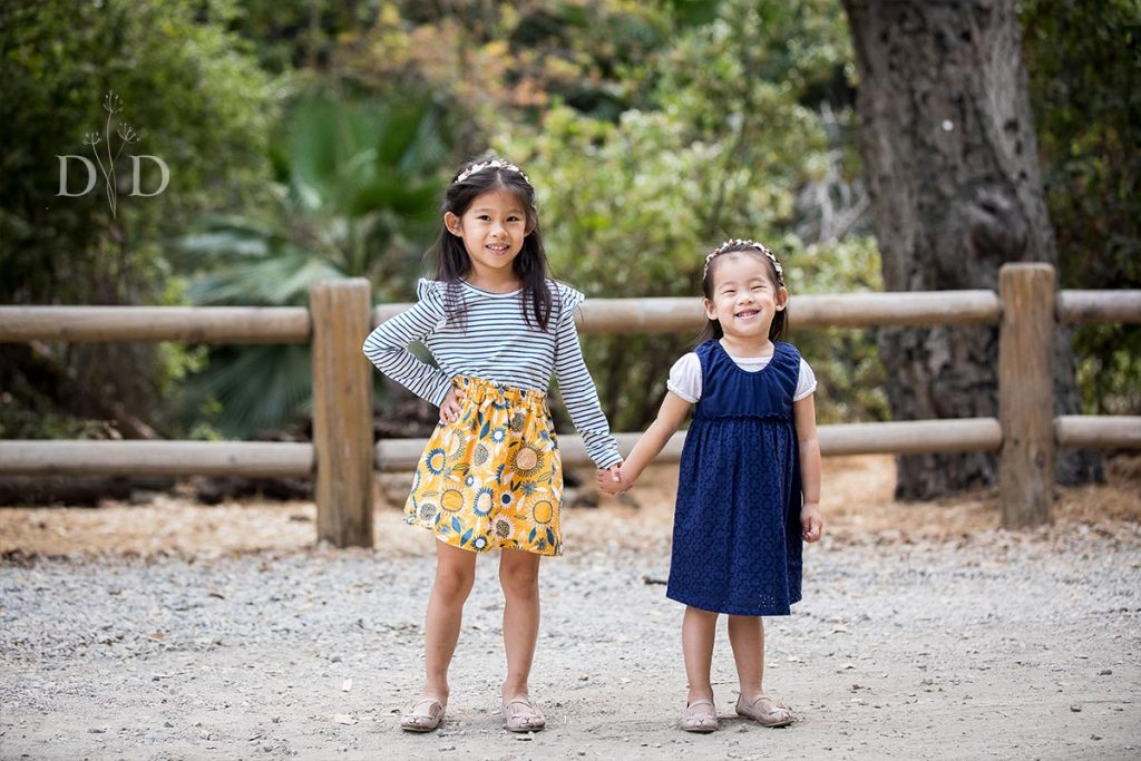 Two Sisters Holding Hands San Dimas
