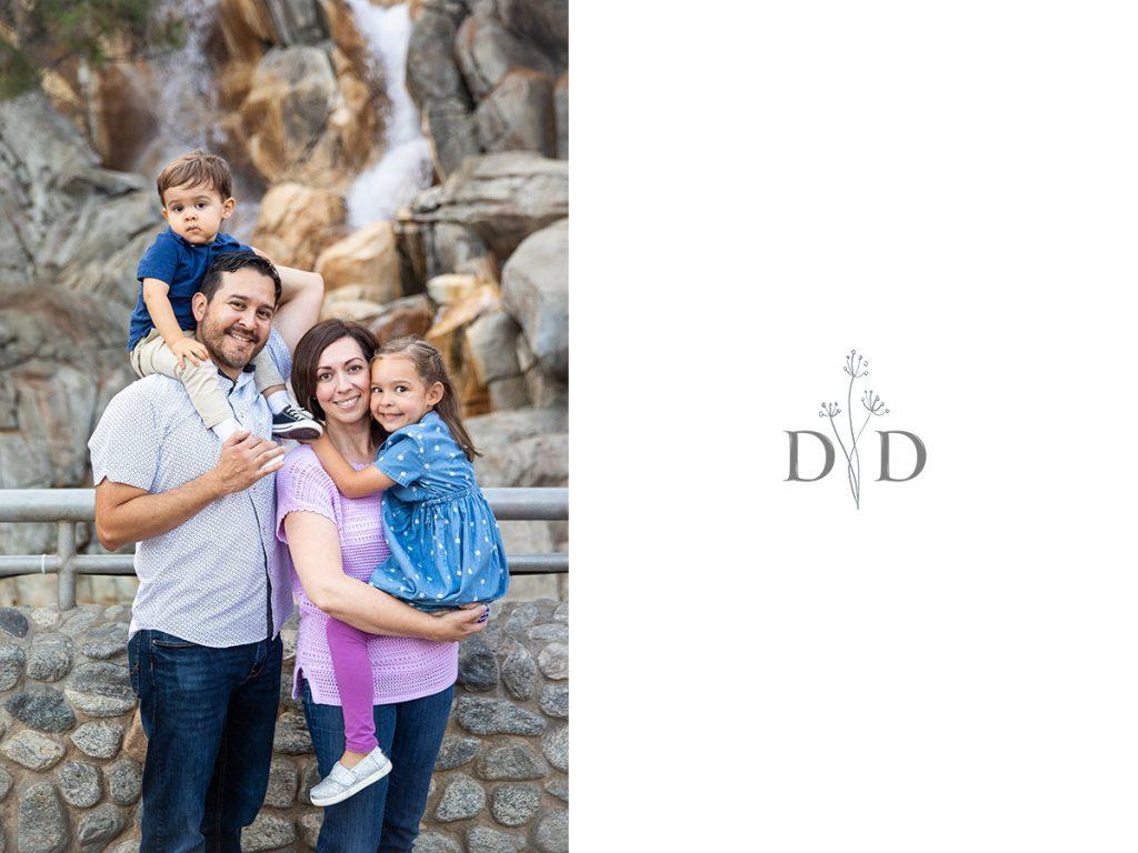 California Adventures Family Photos Waterfall