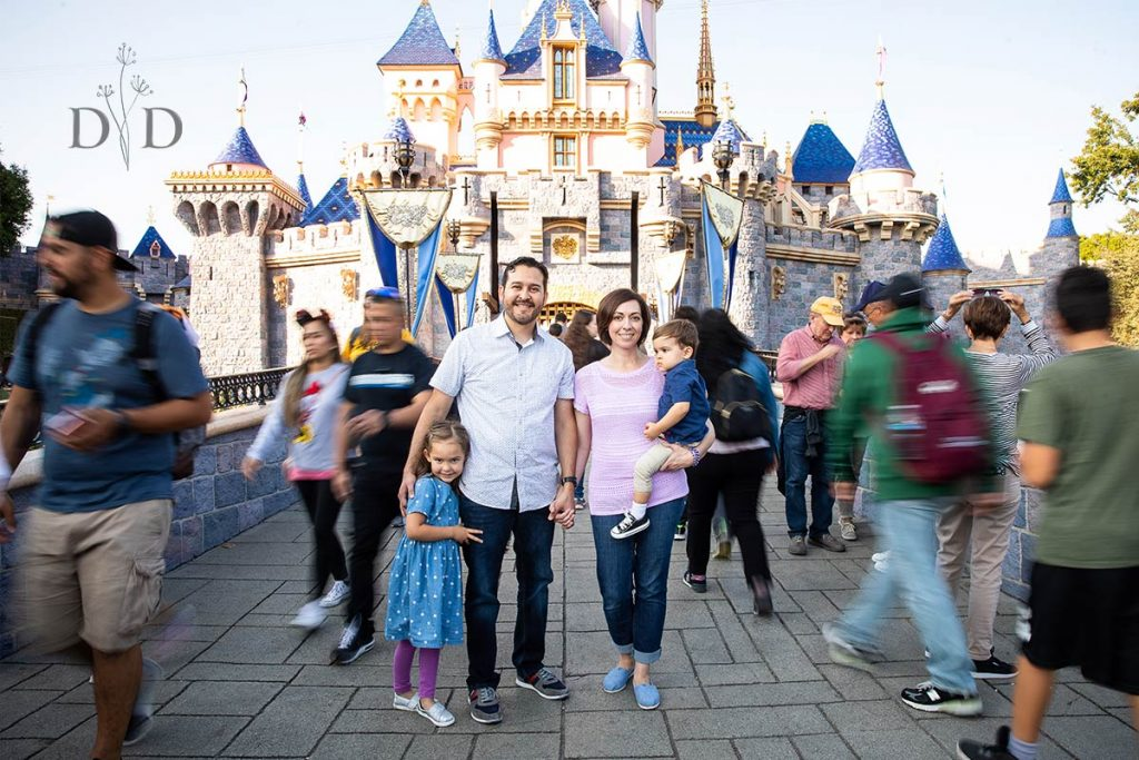Disneyland Family Photos  in front of the Castle