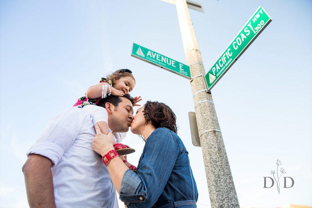 Family Photos Street Sign in Redondo Beach