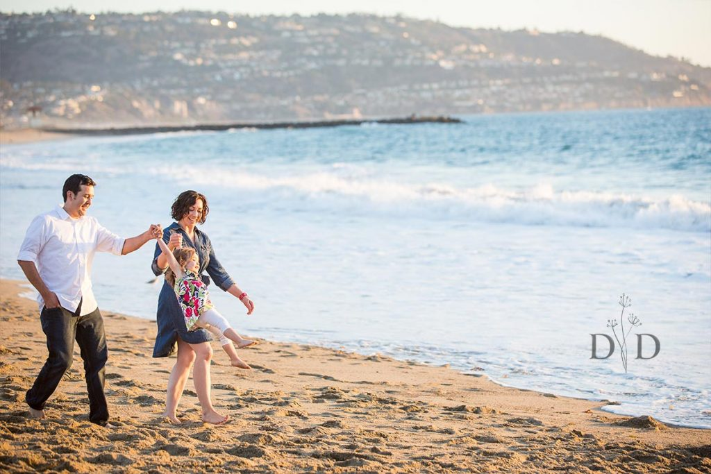 Redondo Beach Family Photos Strolling along the Sand