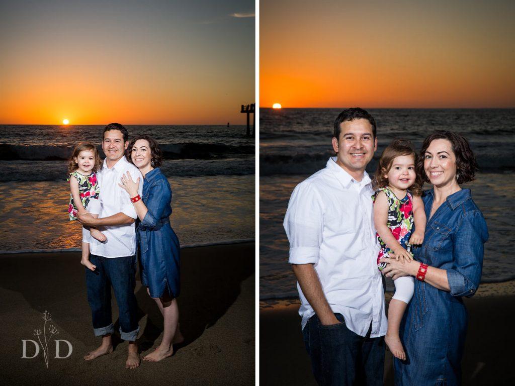 Redondo Beach Family Photos with Sunset
