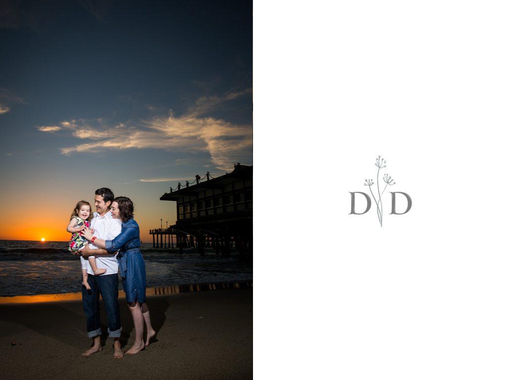 Redondo Beach Family Photography with Sunset