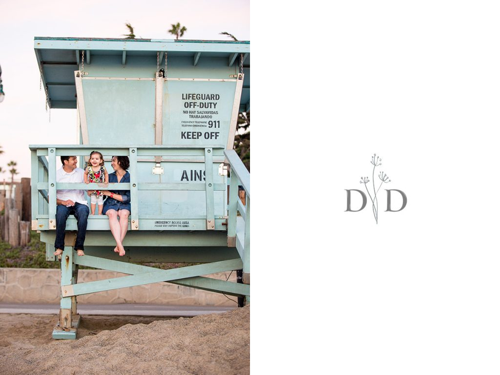 Redondo Beach Family Photography with Lifeguard Tower