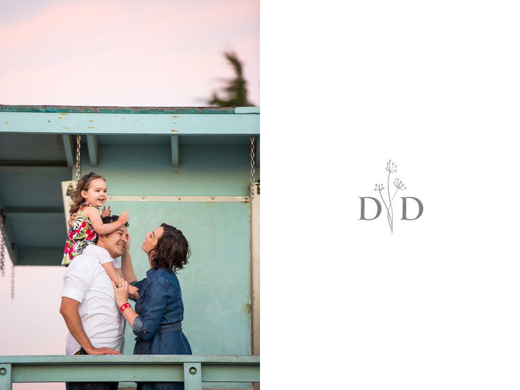 Family Photos Lifeguard Tower