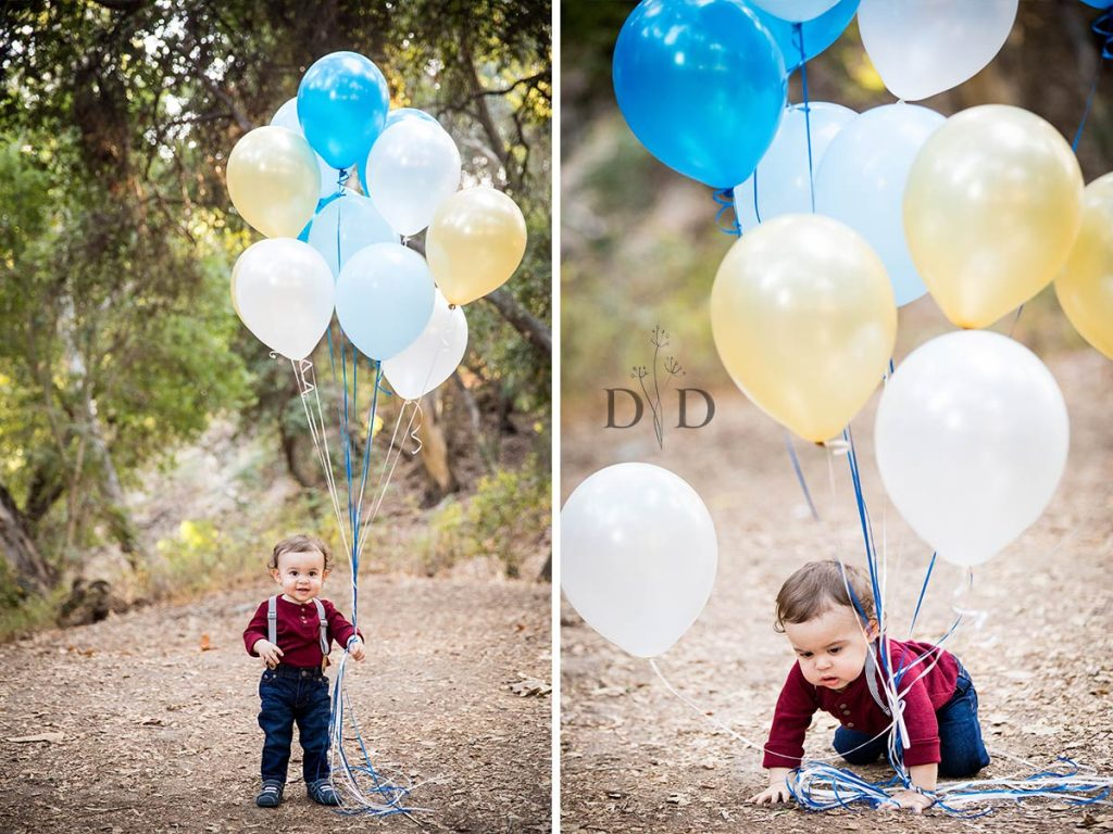 Toddler Family Photos with Balloons