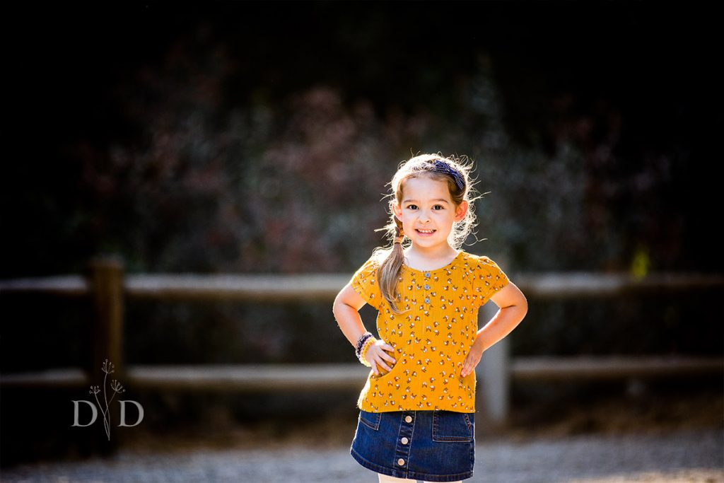 Walnut Creek Park Family Portraits of Daughter
