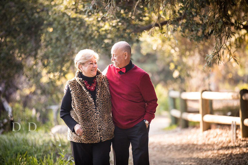 Grandparents walking