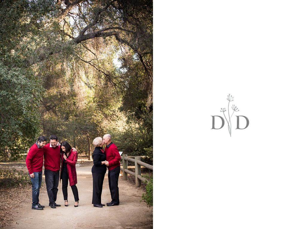 Cute Family Photo at the California Botanical Garden