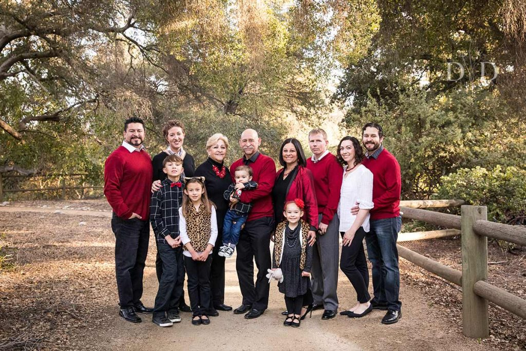 Large Christmas Family Photo in Claremont