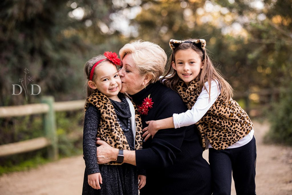 Grandma with her Two Granddaughters