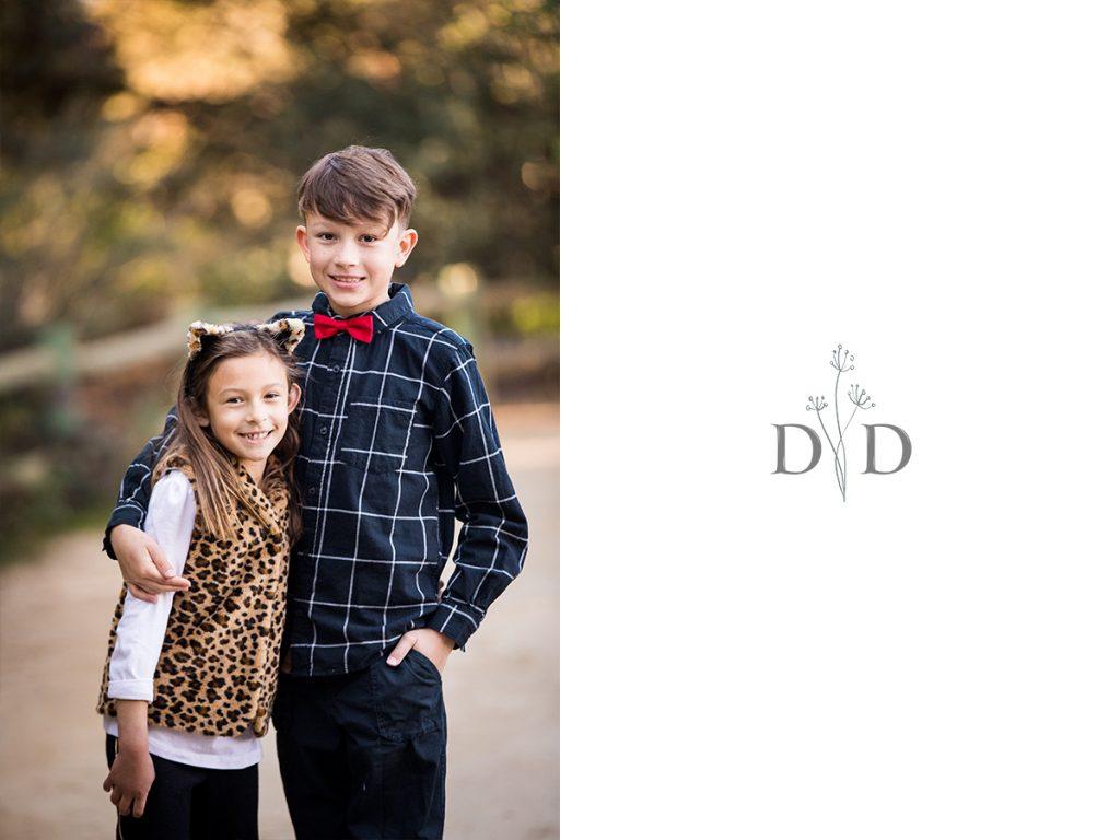 Grandchildren Family Photo, California Botanical Garden