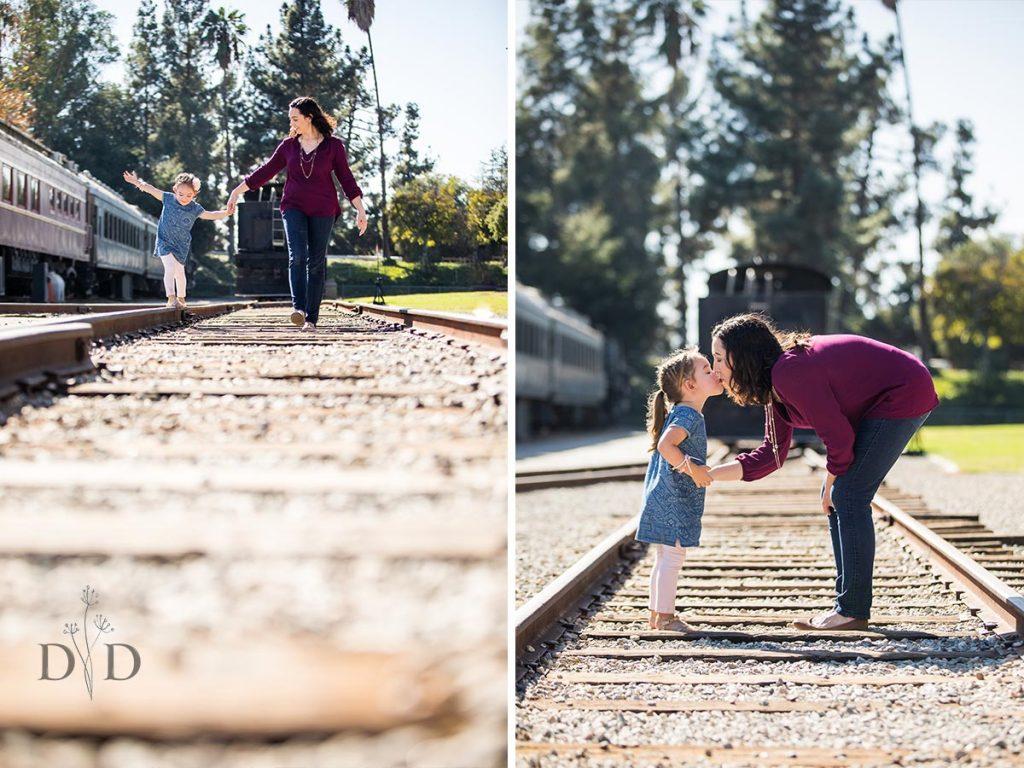 Railroad Tracks Family Photography