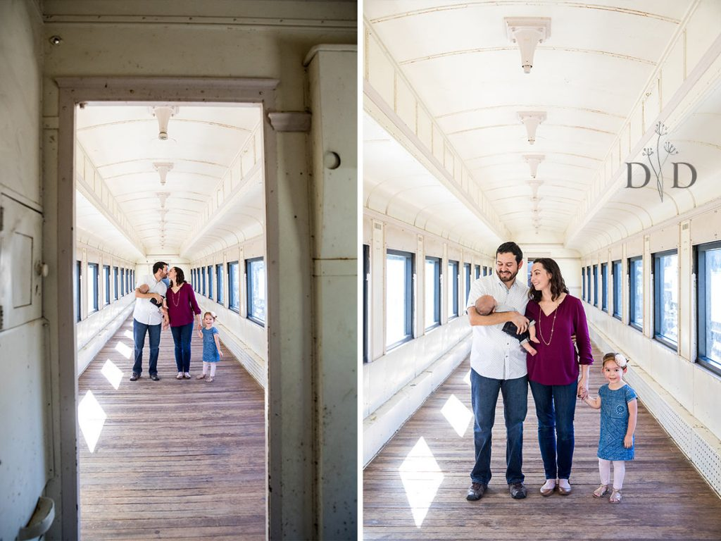Inside Train Family Photography