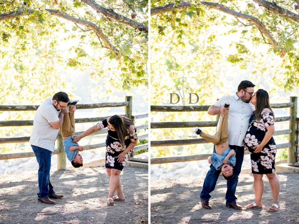 Cute Family Photo Pregnant