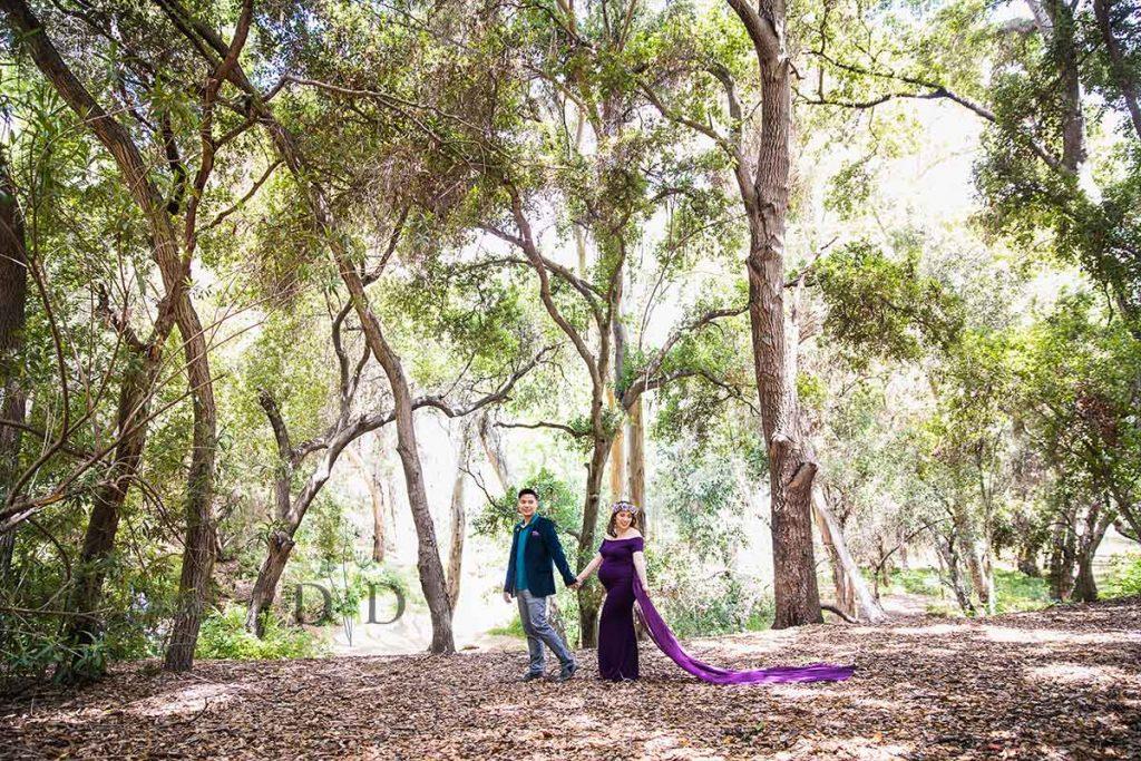 San Dimas Maternity Photos with Trees
