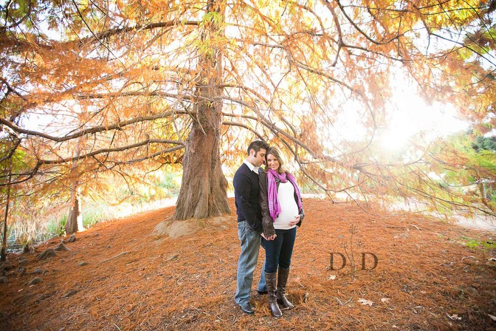 Maternity Photography with Fall Leaves