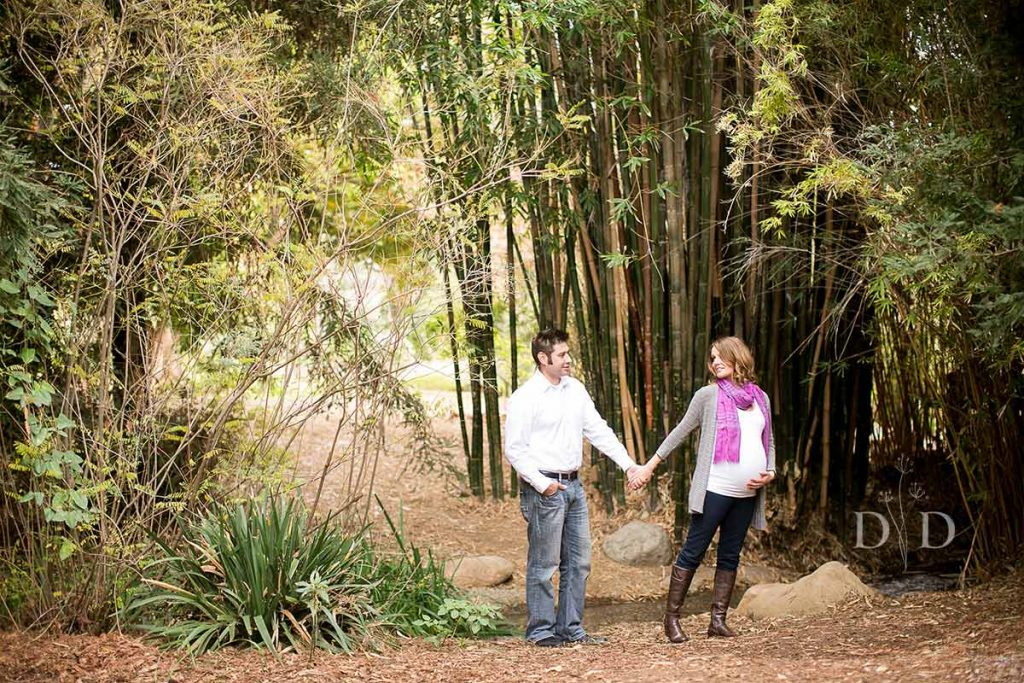 Fullerton Arboretum Maternity Photography with Bamboo