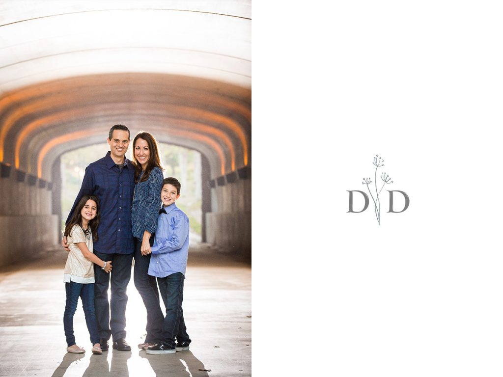 Irvine Family Photos in a Tunnel
