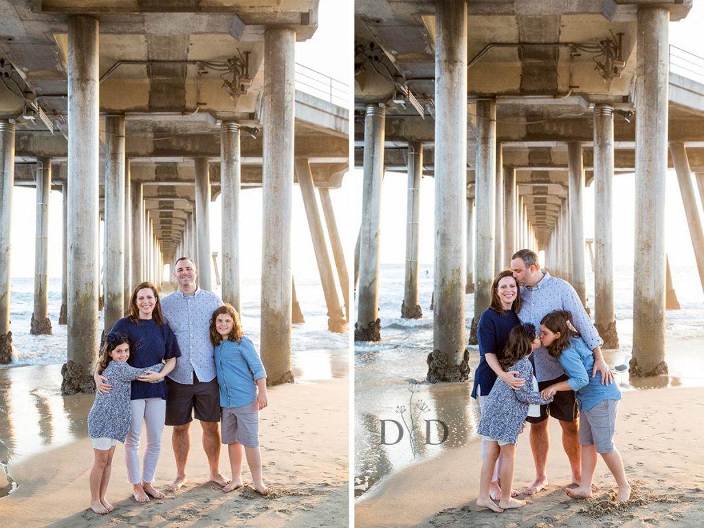 Huntington Beach Family Photos Under Pier