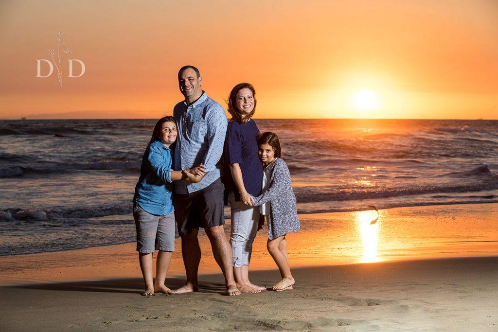 Huntington Beach Family Photos with Sunset