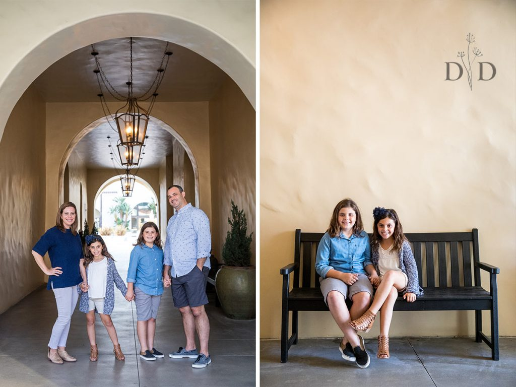 Huntington Hyatt Family Photos with Two Daughters
