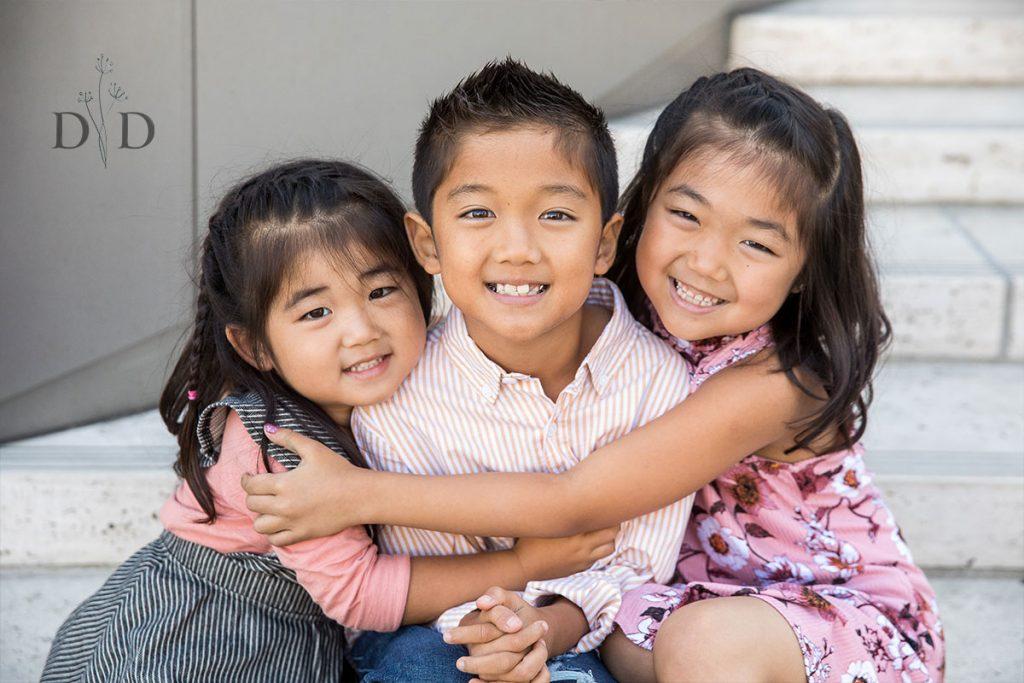 Three Children Family Portrait