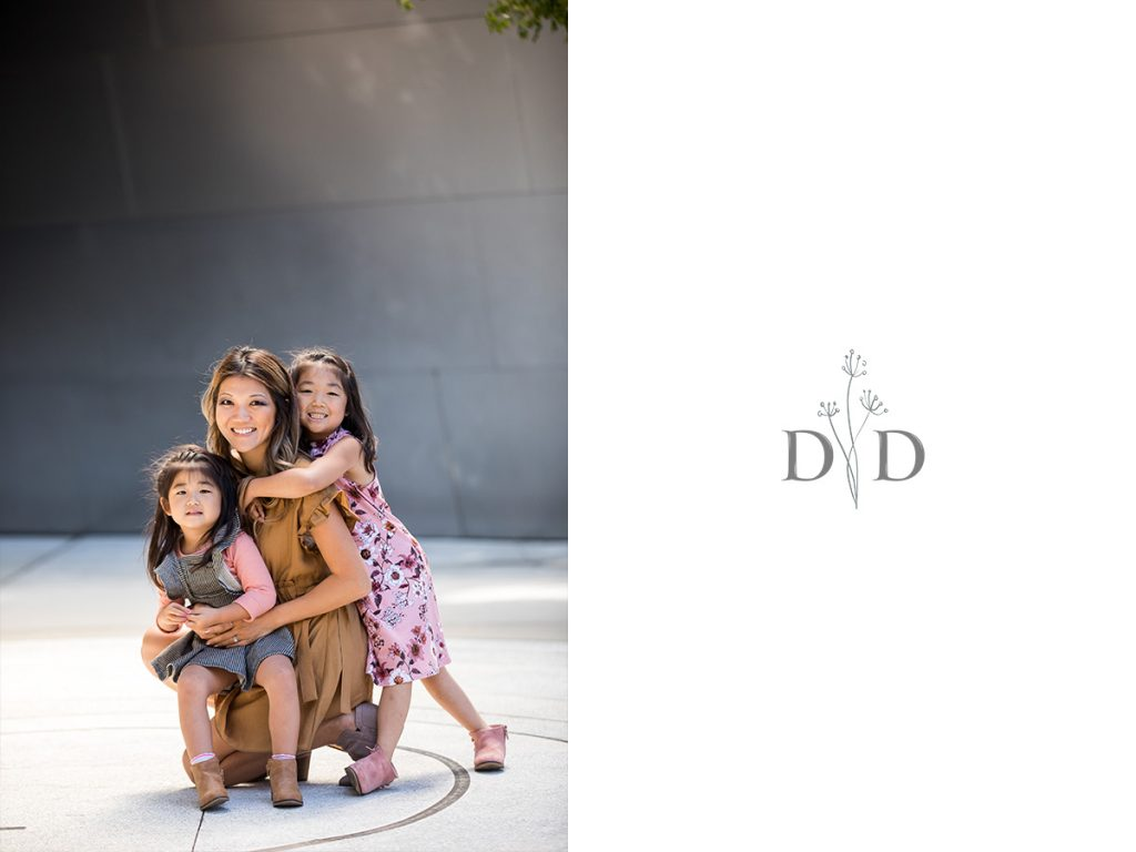 Mom and Daughters Family Photo