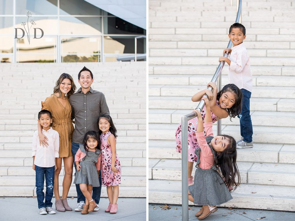 Walt Disney Concert Hall Front Steps Family Photography