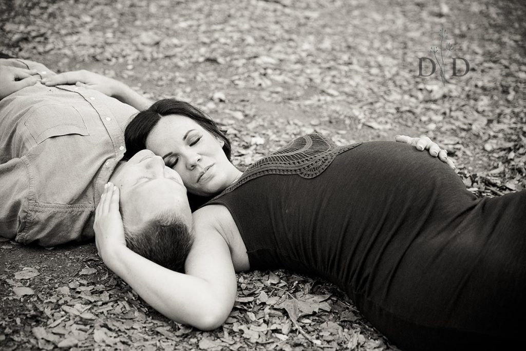 Black and White Maternity Photos San Dimas