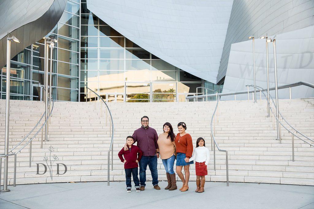 Front Steps Family Photos Walt Disney Concert Hall