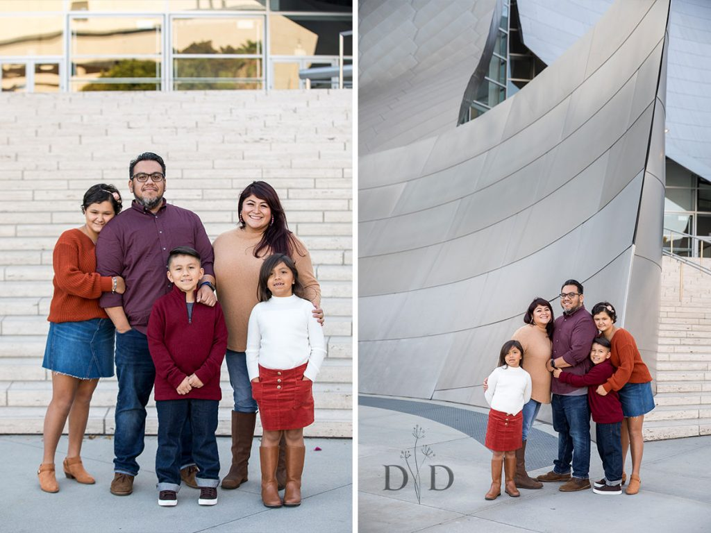Front Steps Family Photography Walt Disney Concert Hall