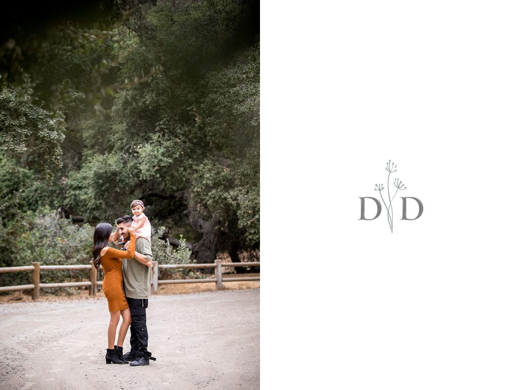 San Dimas Family Photography with Fence