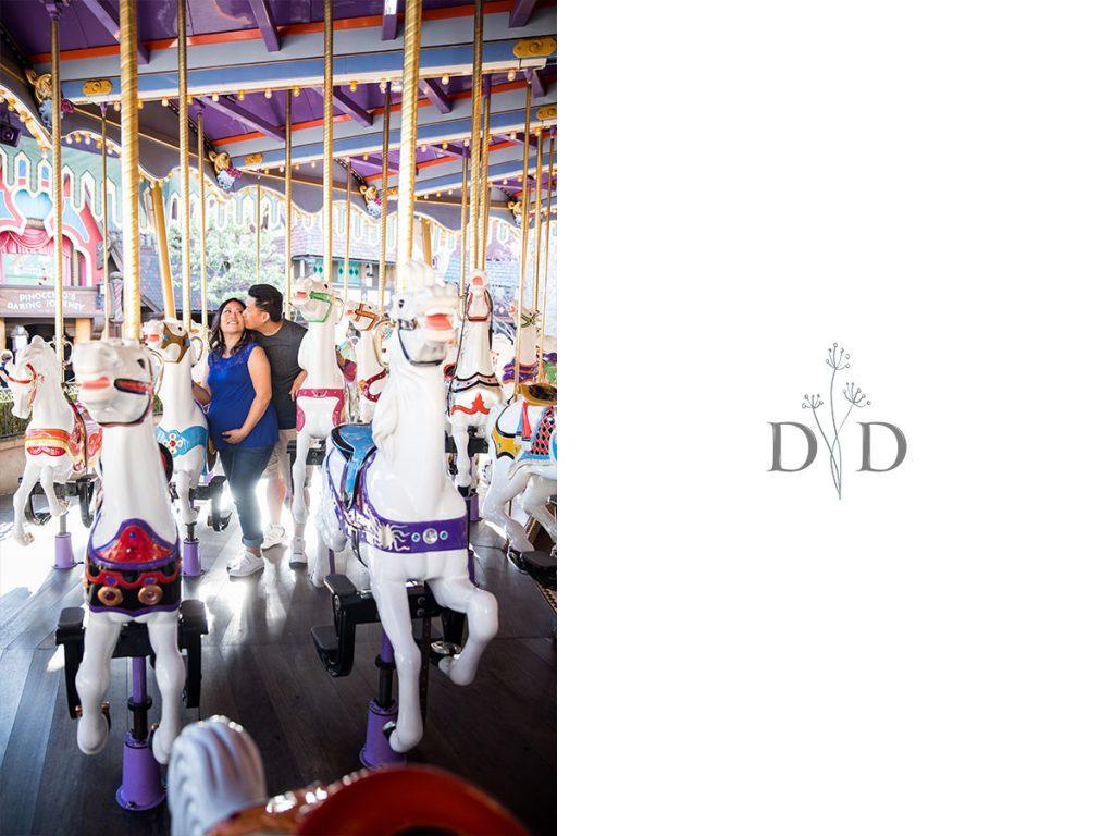 Disneyland Family Photos on Carousel