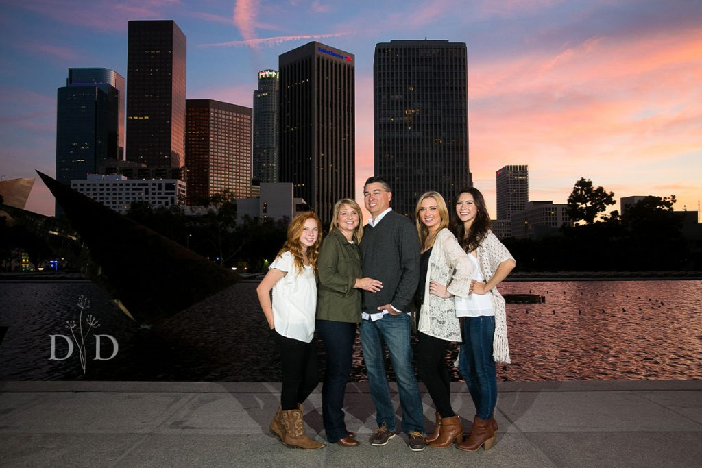 Family Photography Los Angeles Skyline
