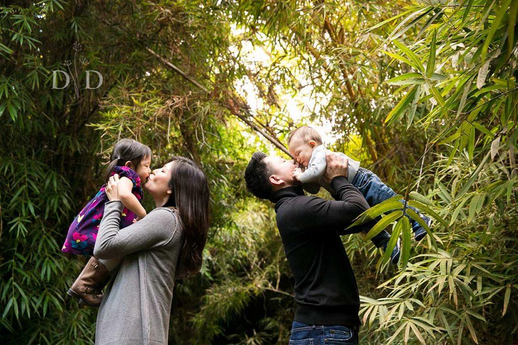 Family Photo in a Botanic Garden