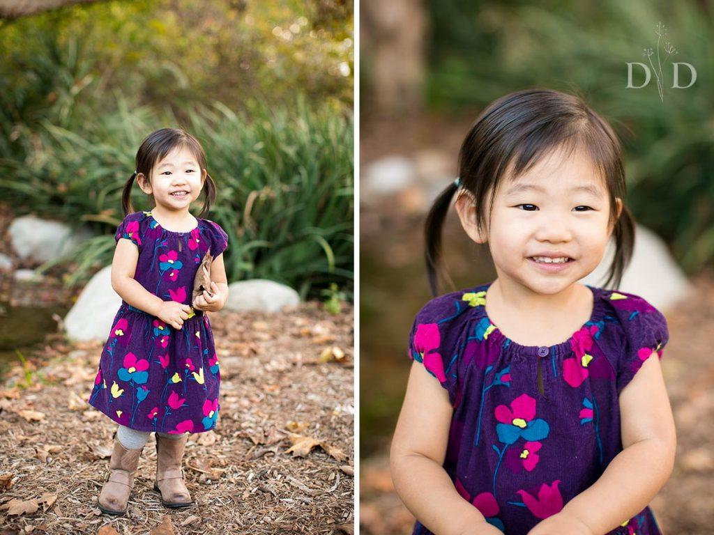 Los Angeles Arboretum Family Photo of Daughter