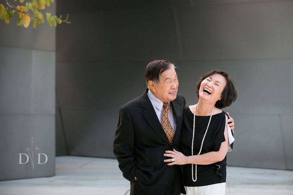 Cute Grandparents Portrait Los Angeles