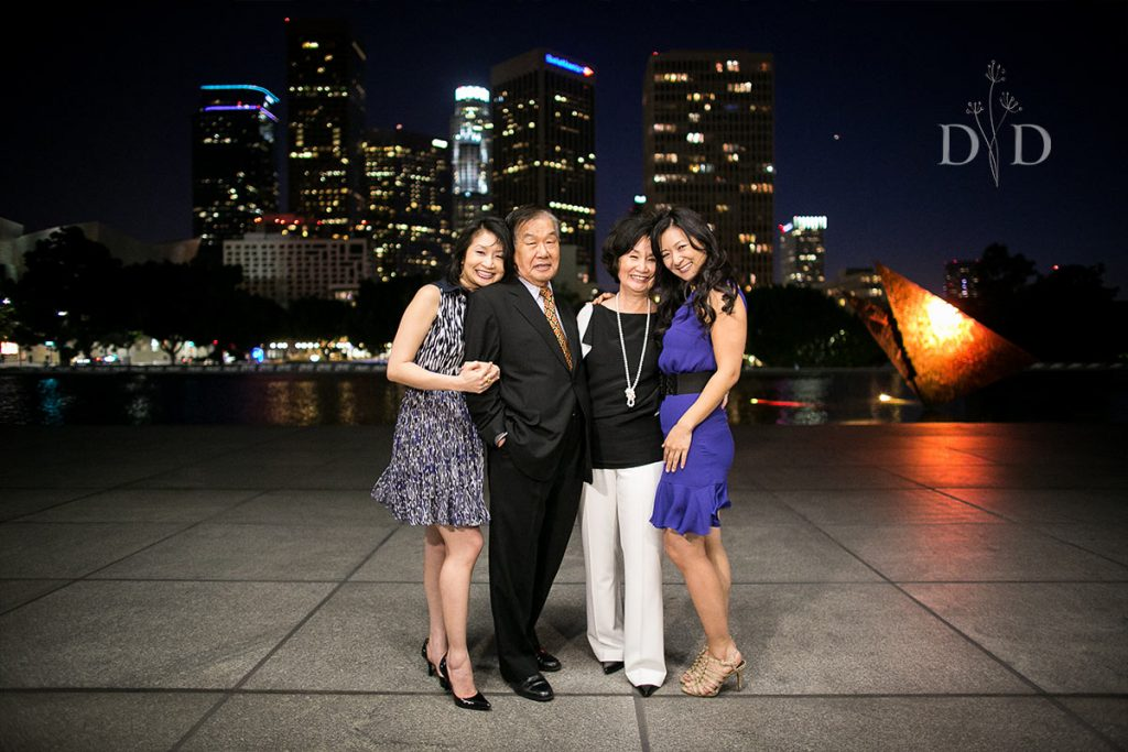 DTLA Family Photos at Night