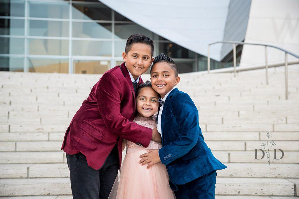 Three Kids Family Photo
