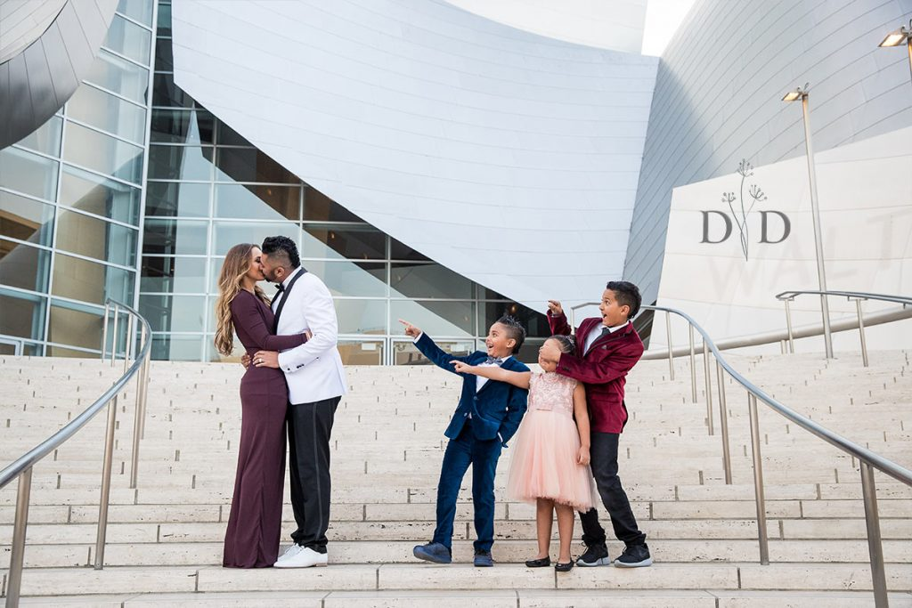 Walt Disney Concert Hall Family Photo Funny and Cute