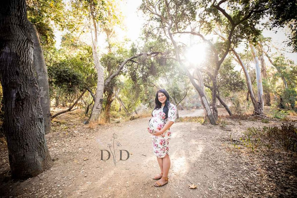 Walnut Creek Park Maternity Photography on Trail