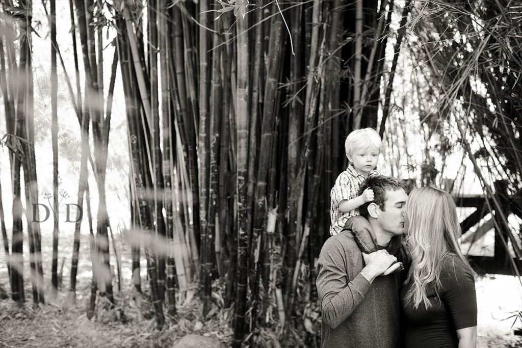 Family Photo with Bamboo