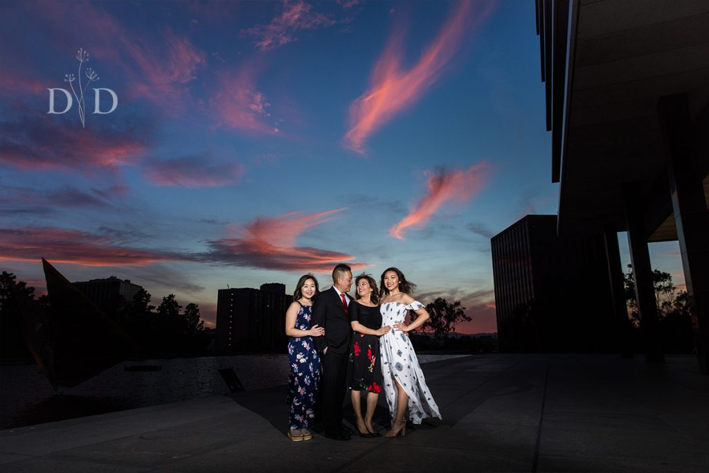 Downtown Los Angeles Family Photography Sunset