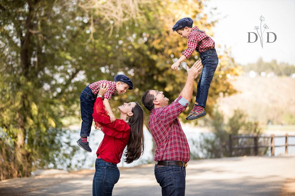 Throwing Kids in Air Family Photo